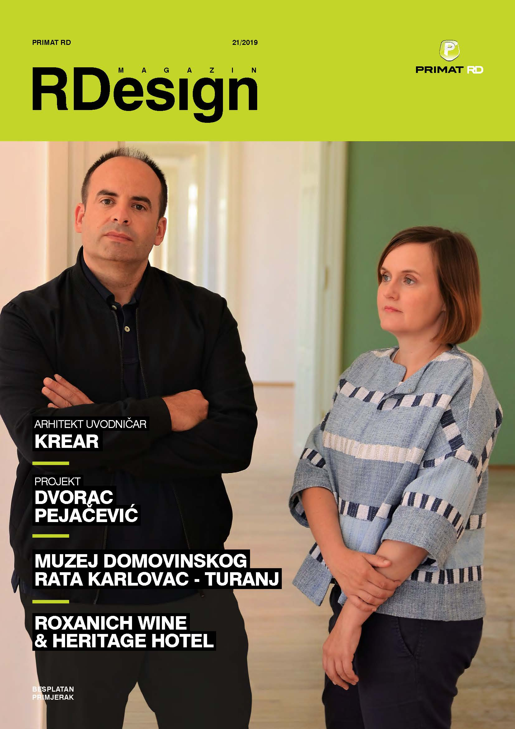 Arhitekt uvodničar u RDesign magazinu
